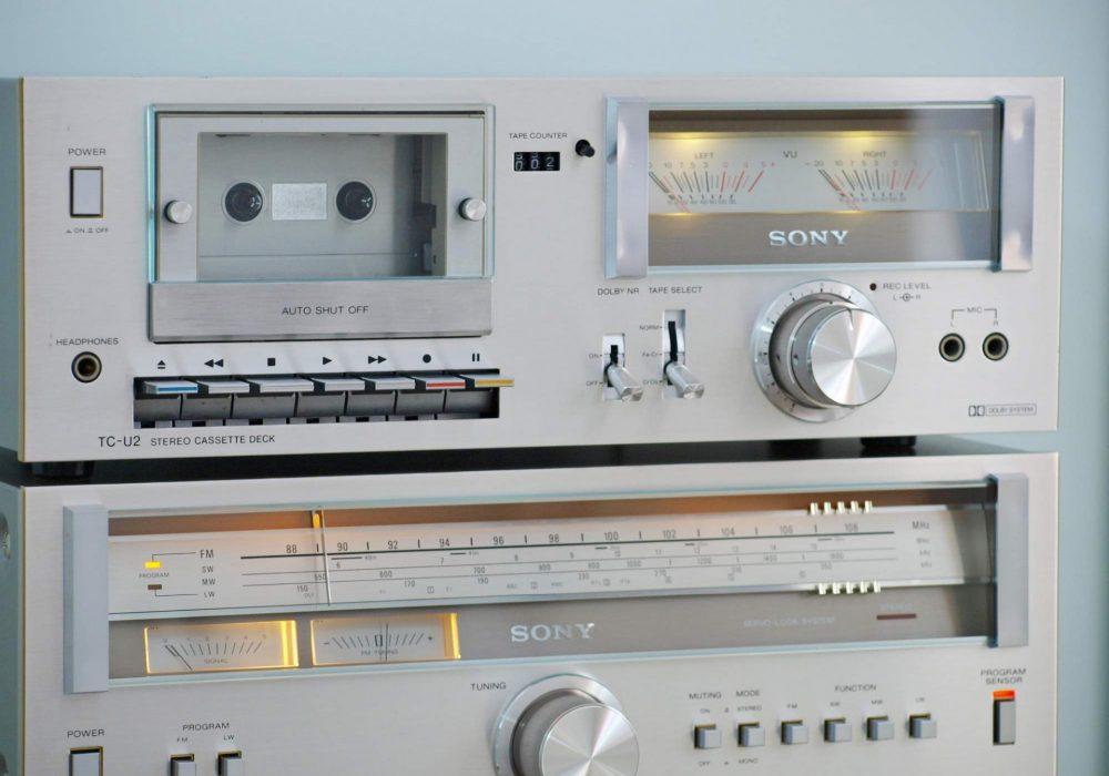 索尼 SONY TA-313 功放 + SONY ST-313L FM/AM 收音头 + SONY TC-U2 卡座