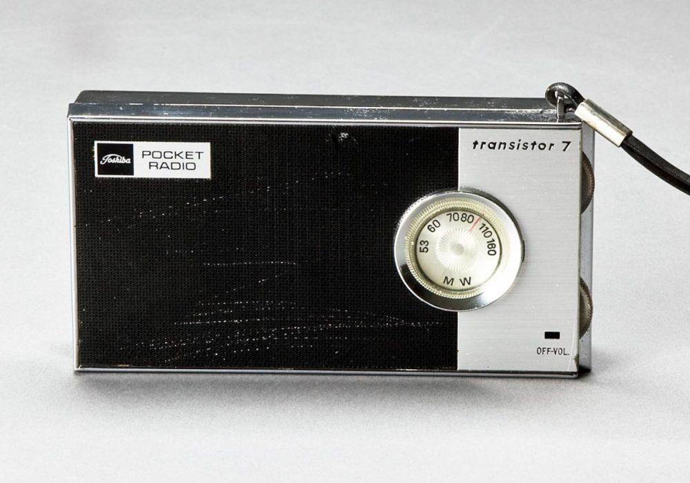 東芝 AMトランジスターラジオ POCKET RADIO trnsistor7 実用品 MODEL 7P-71