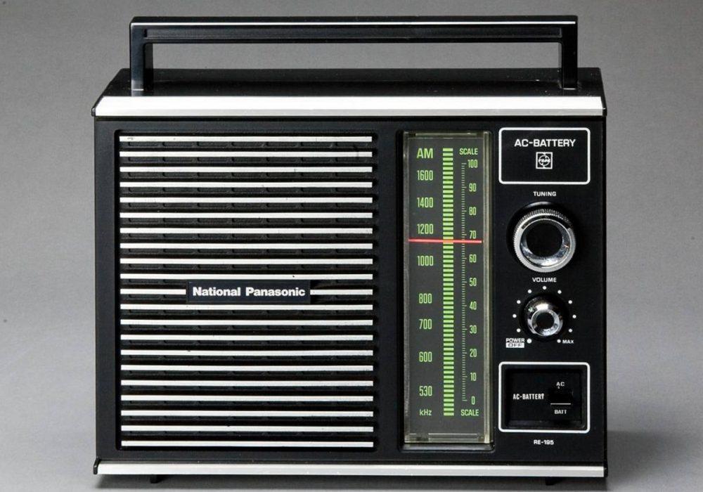 まだまだ、現役!National Panasonic ナショナル RE-195 AMトランジスターラジオ スマホ入力端子加工の中古美品。