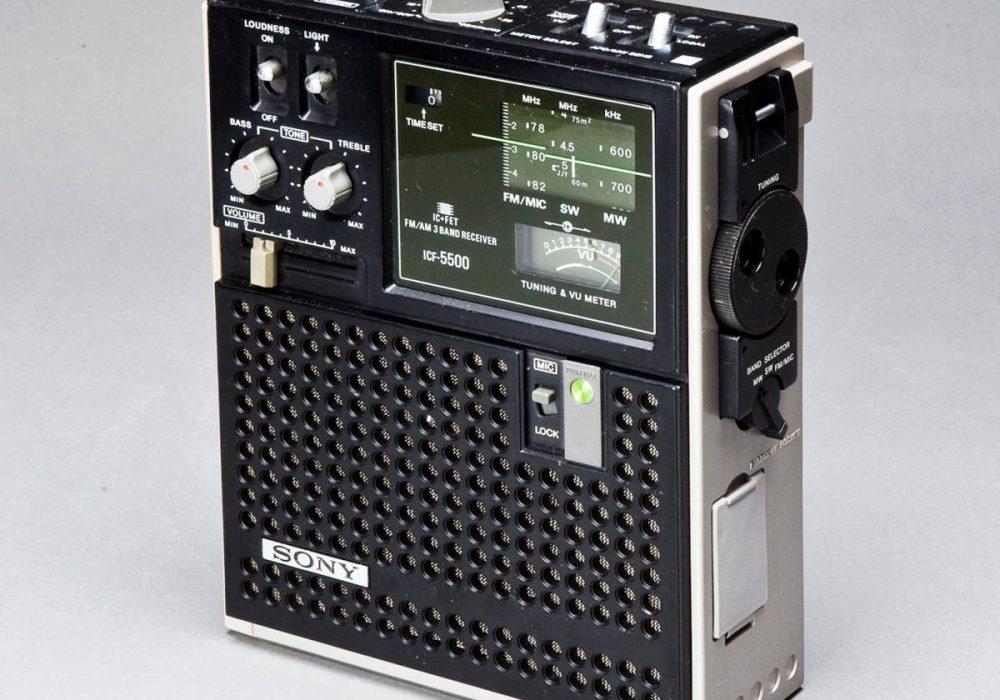 SONY スカイセンサー ICF-5500 BCLラジオ 美品中古!
