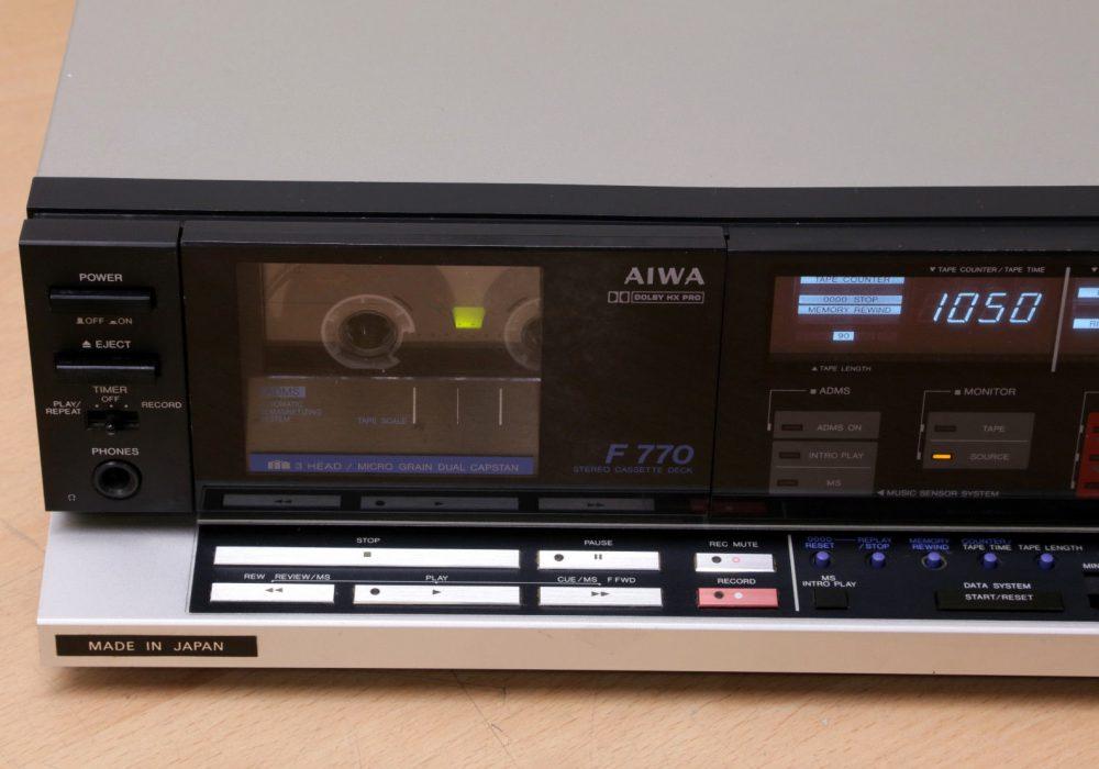 爱华 AIWA AD-F770 3磁头 单卡座