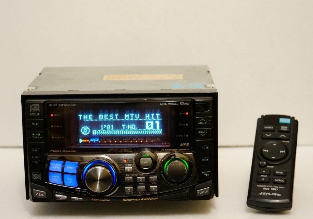 ALPINE MDA-W966 CD/MD 车载播放机