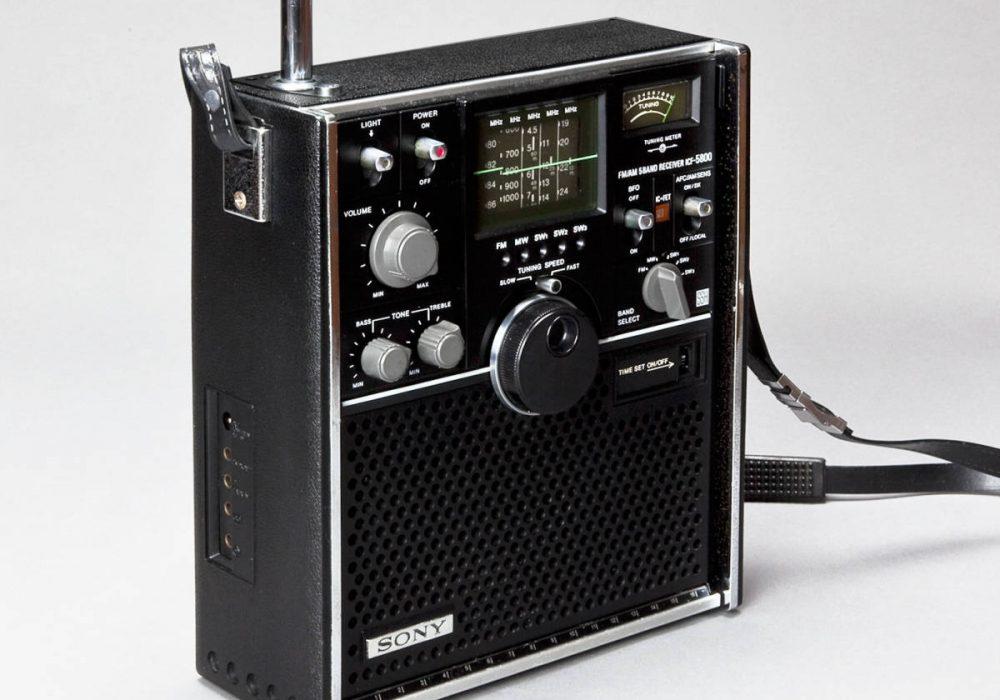 SONY ICF-5800 BCL 收音机
