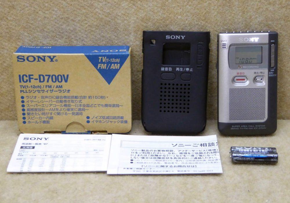 SONY ICF-D700V FM 迷你收音机