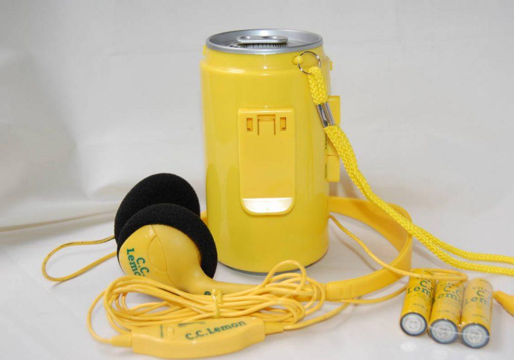 ☆レアな完全動作品 CCレモン カセットプレーヤー サウンド缶 ウォークマン ヘッドホンもパッドも新品と交換済みOK☆