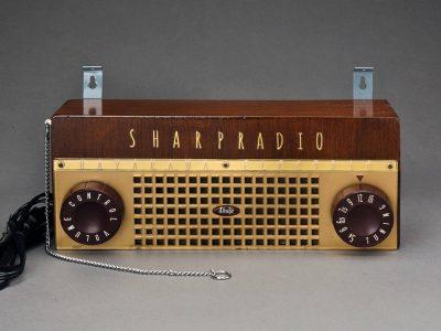 木製壁掛け真空管ラジオ シャープ SHARP 5M-67 1955年製 トランスレス五球スーパー 希少実用中古!