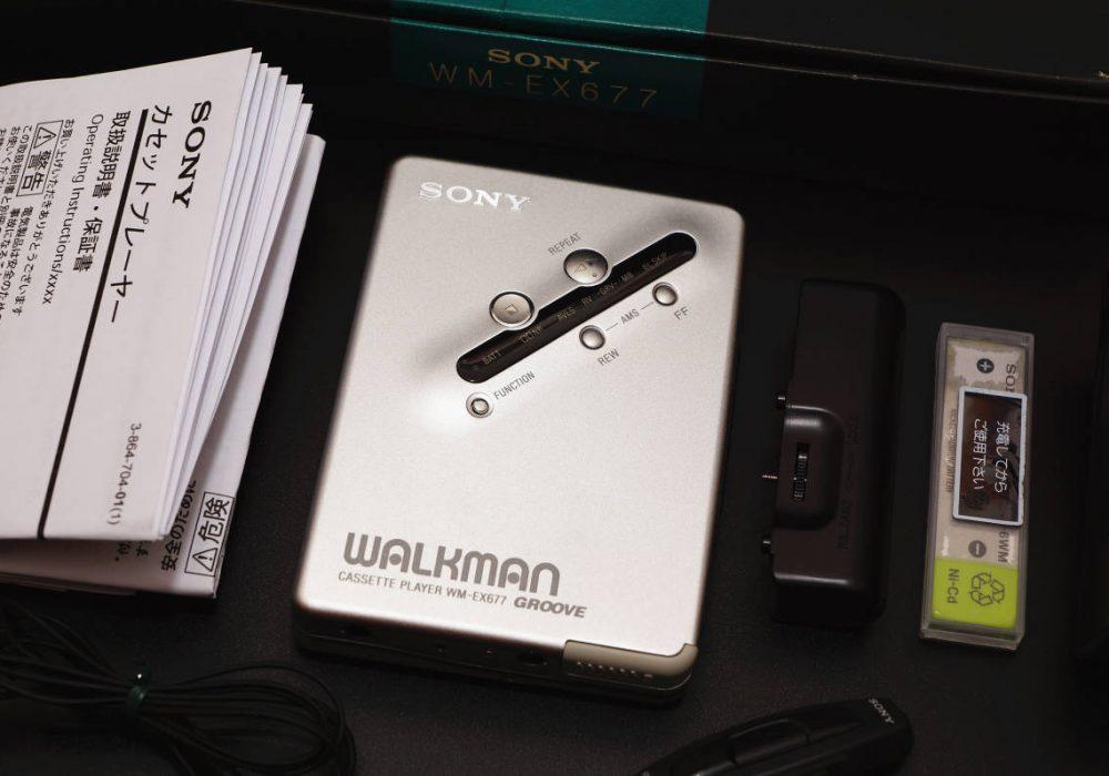 SONY ソニー WALKMAN カセットプレーヤー WM-EX677 シルバー