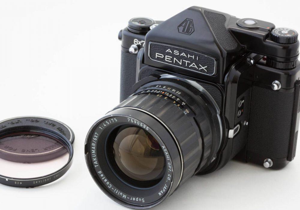 Pentax 6x7 TTL Super Takuma 75mm F4.5 胶片相机