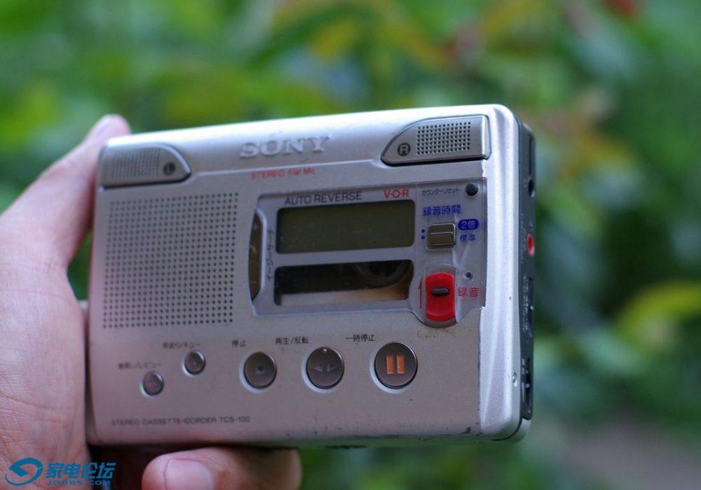 索尼 SONY TCS-100 磁带录音机 采访机