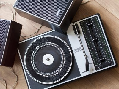 Philips Stereo 390 Turntable 黑胶唱机