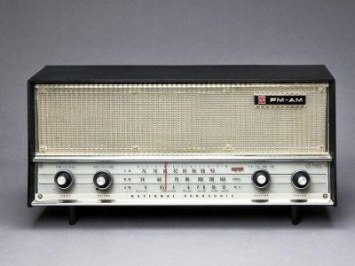 FMのきける真空管ラジオ ナショナルパナソニック RE-830 FM-AM 3-BAND 実用中古!