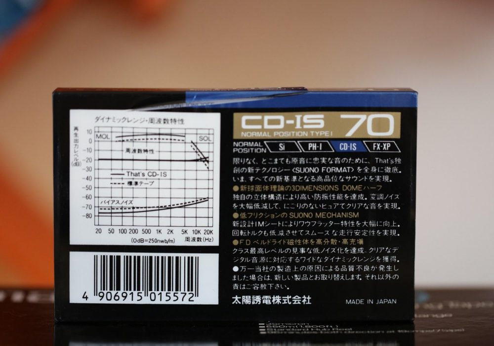 THAT\'S CD-IS 70 SUONO (1988) Cassette