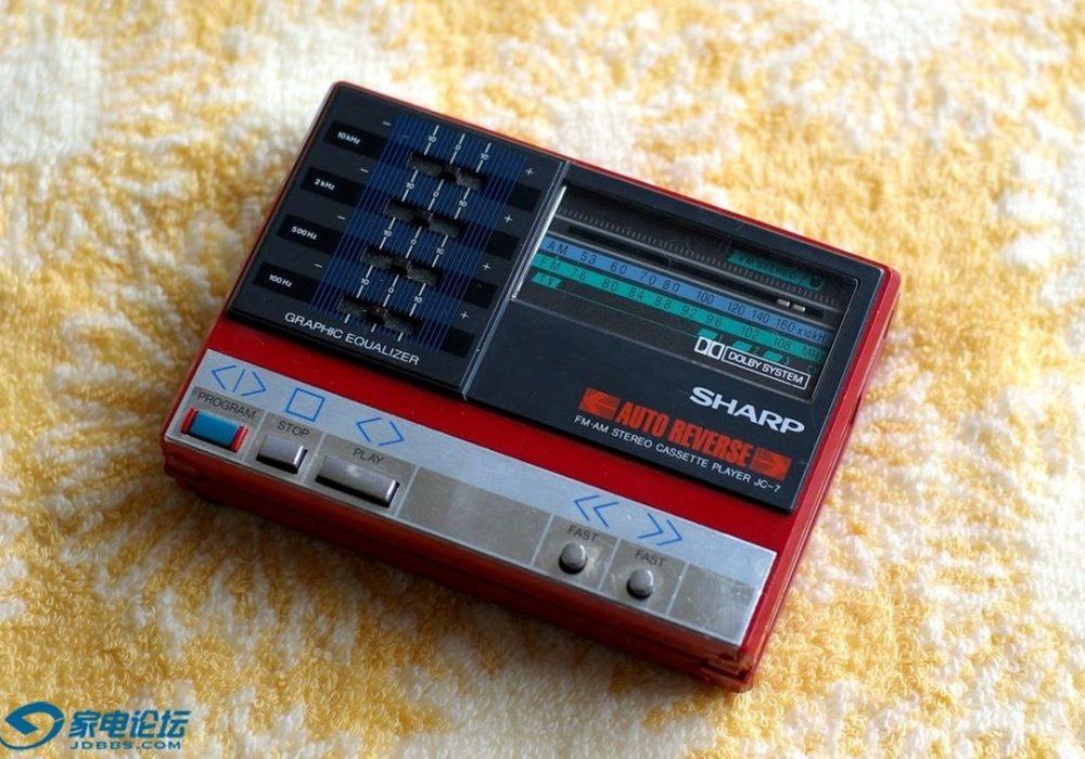 夏普 SHARP JC-7 磁带随身听