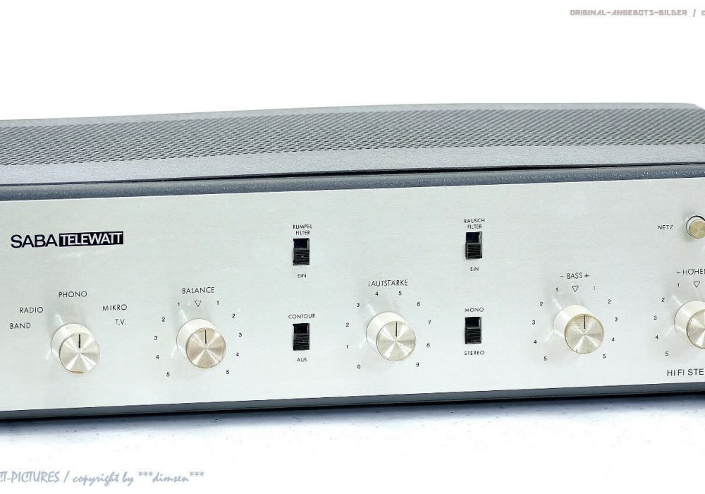 SABA TELEWATT TR60 电子管功放