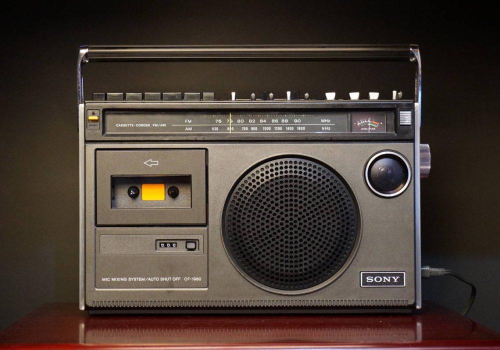 SONY CF-1980 单卡收录机