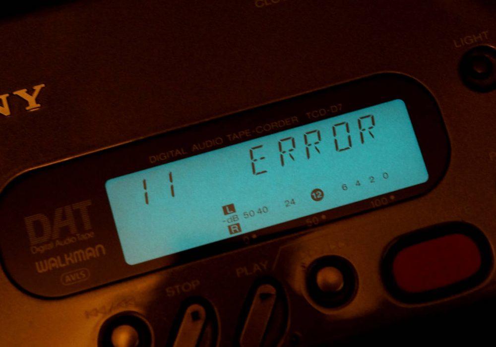 SONY TCD-D7 DAT播放器 DAT随身听