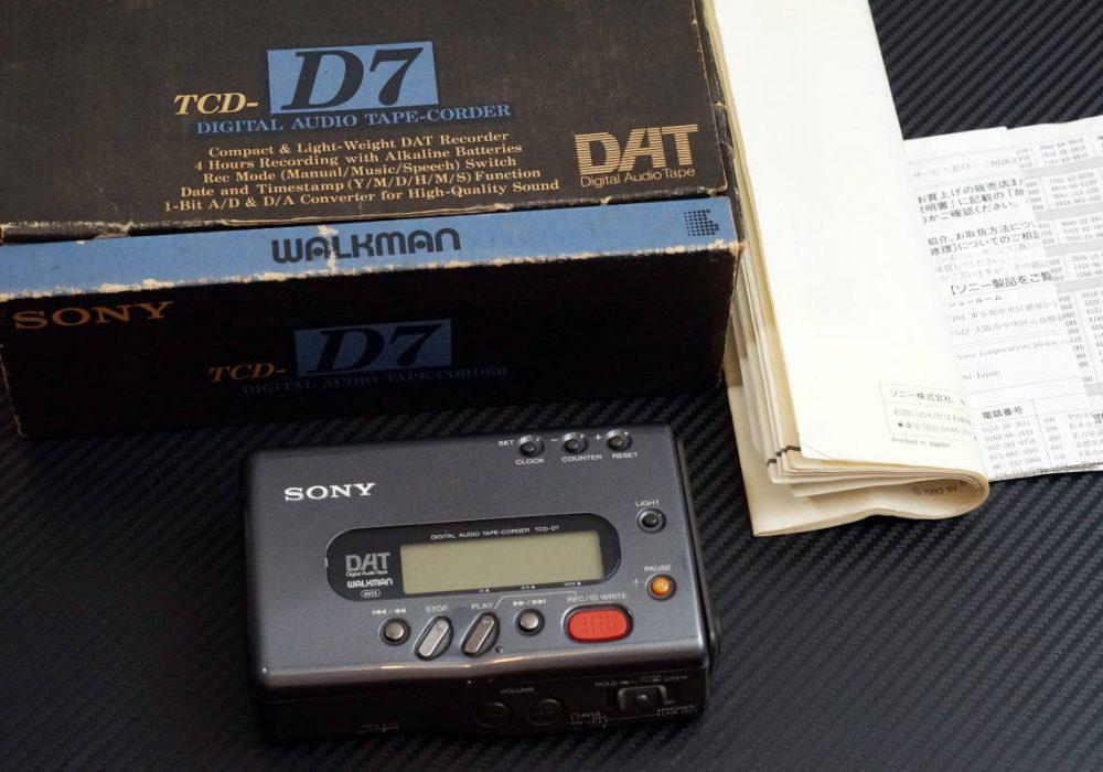 SONY TCD-D7 DAT随身听