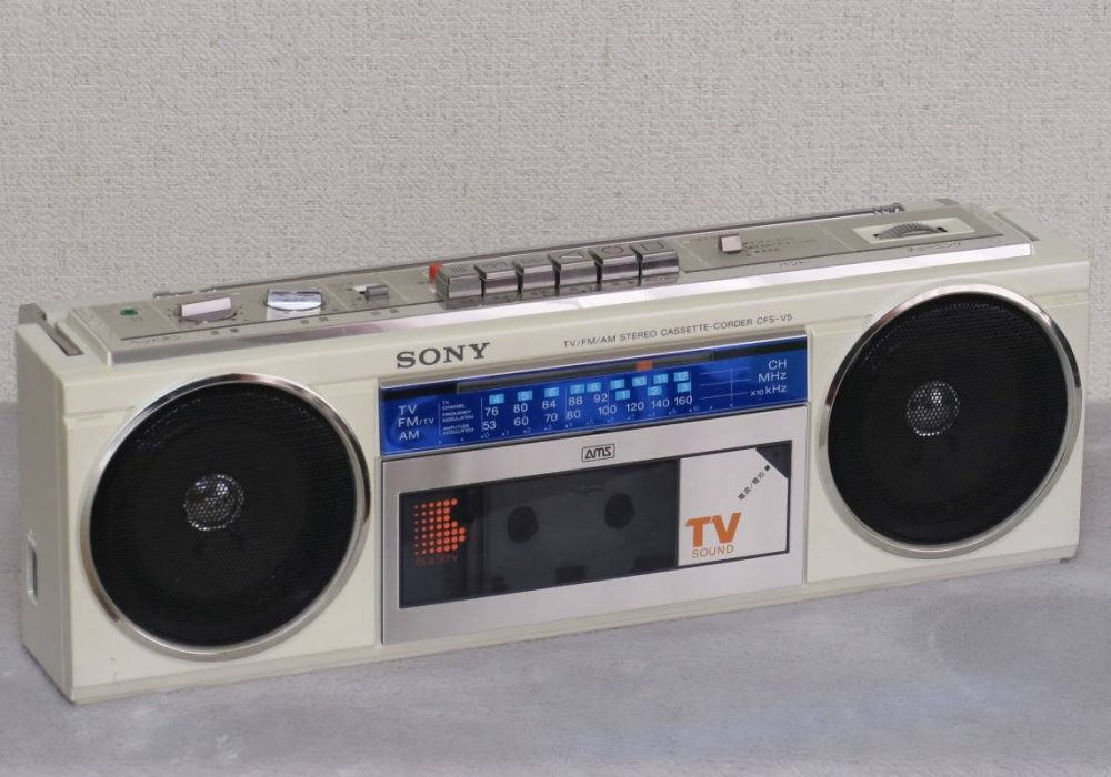 SONY CFS-V5 FM/AM/TV 单卡收录机