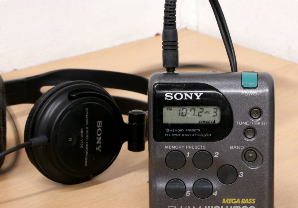 索尼 SONY SRF-M43 立体声 FM/AM 便携式收音机