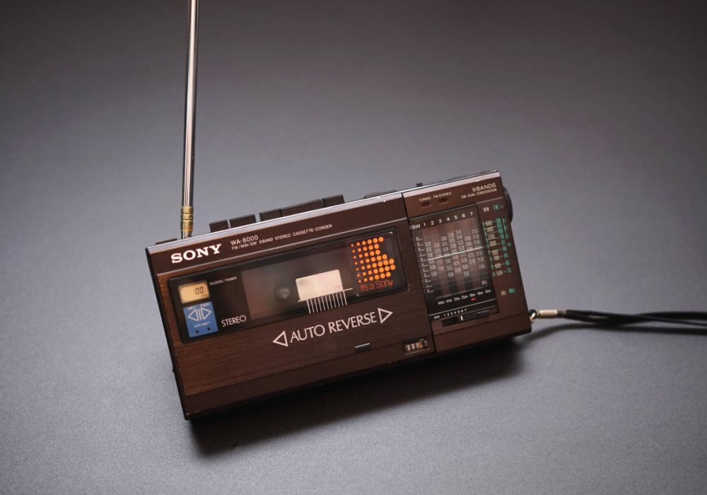 SONY WA-8000 FM/SW/MW 9波段 随身听 小型收录机