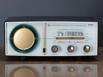 三菱 MITSUBISHI MODEL 5P-730 MW/SW 2波段 电子管收音机