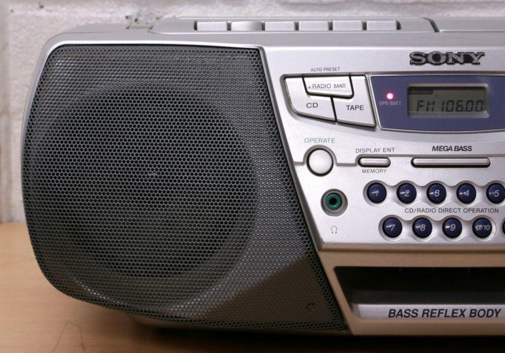 索尼 SONY CFD-S22 FM/AM 收音机/CD/卡座 面包机