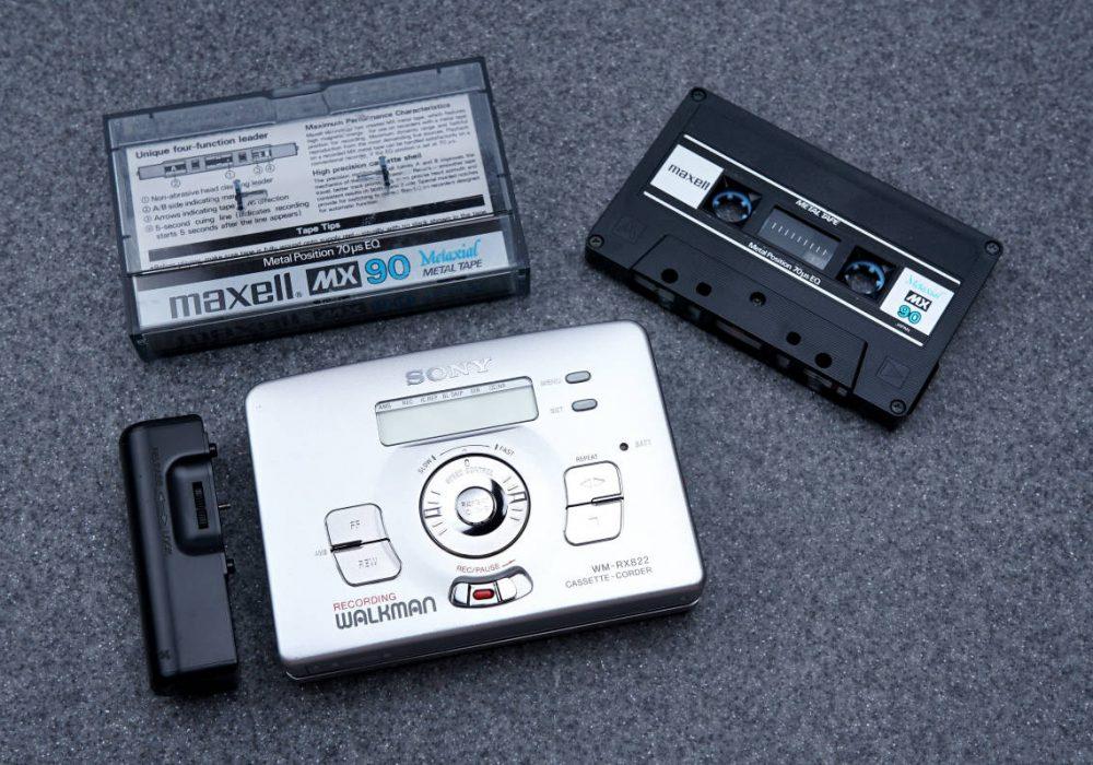 SONY ソニー WALKMAN ポータブルカセットプレイヤー WM-RX822 シルバー MAXELL メタルテープ付