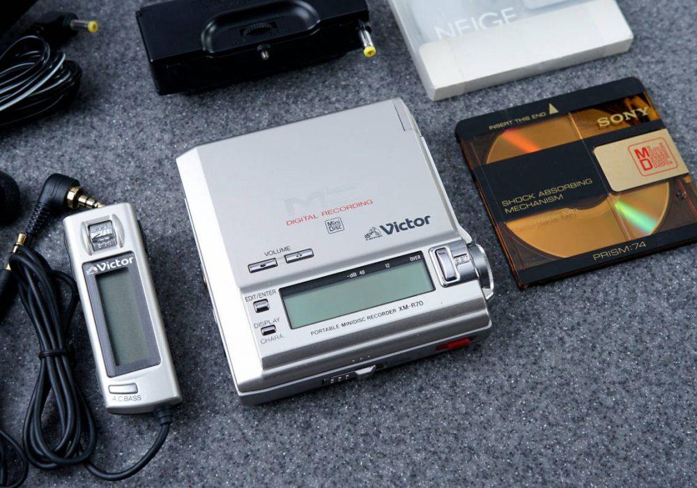 Victor JVC ビクター ポータブルMDプレイヤー XM-R70-S