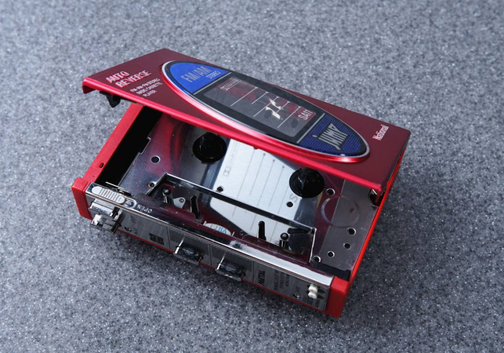 National 松下電器 JUMP ポータブルカセットプレーヤー RX-SA11 RED