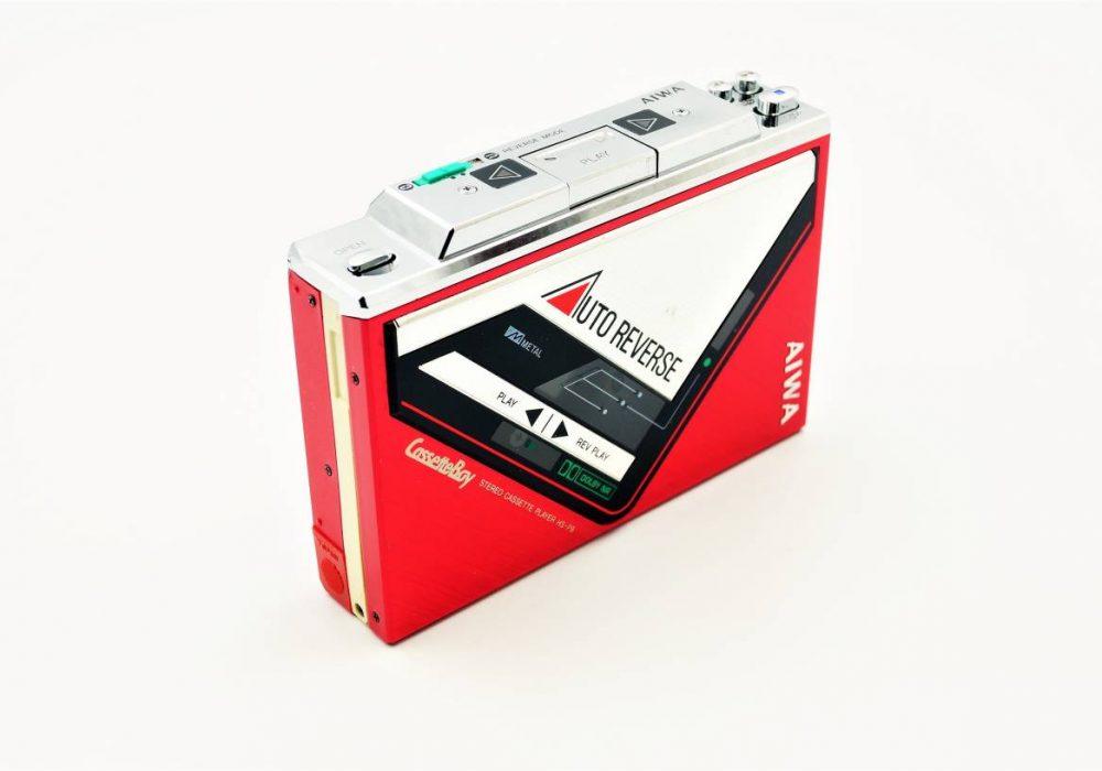 ◆動作極美品◆AIWA HS-P9 アイワ カセットボーイ ステレオカセットプレーヤー レッド
