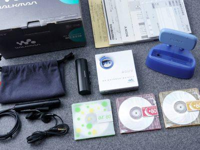 索尼 SONY 索尼 WLAKMAN ポータブルMDプレイヤー MZ-E520 シルバー