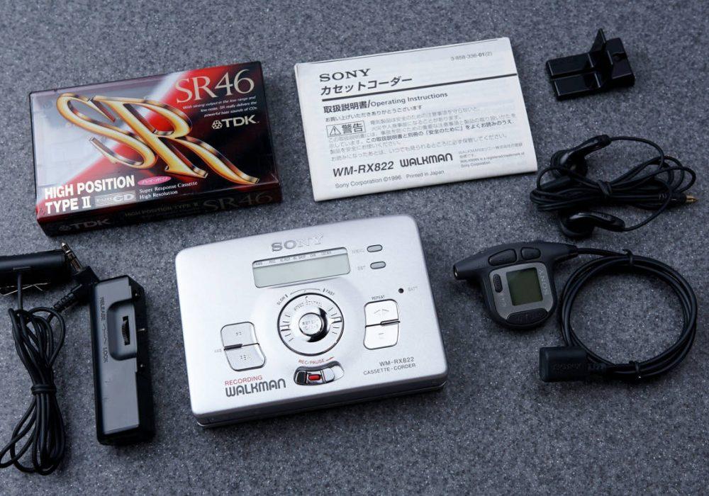 ★新品同様★ SONY ソニー WALKMAN ポータブルカセットプレイヤー WM-RX822 シルバー