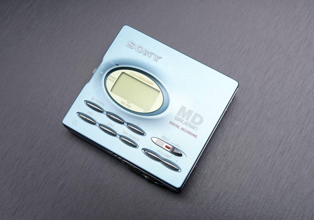 ★極美品・動作〇★ SONY ソニー WALKMAN ポータブルMDレコーダー MZ-R91 ミントブルー