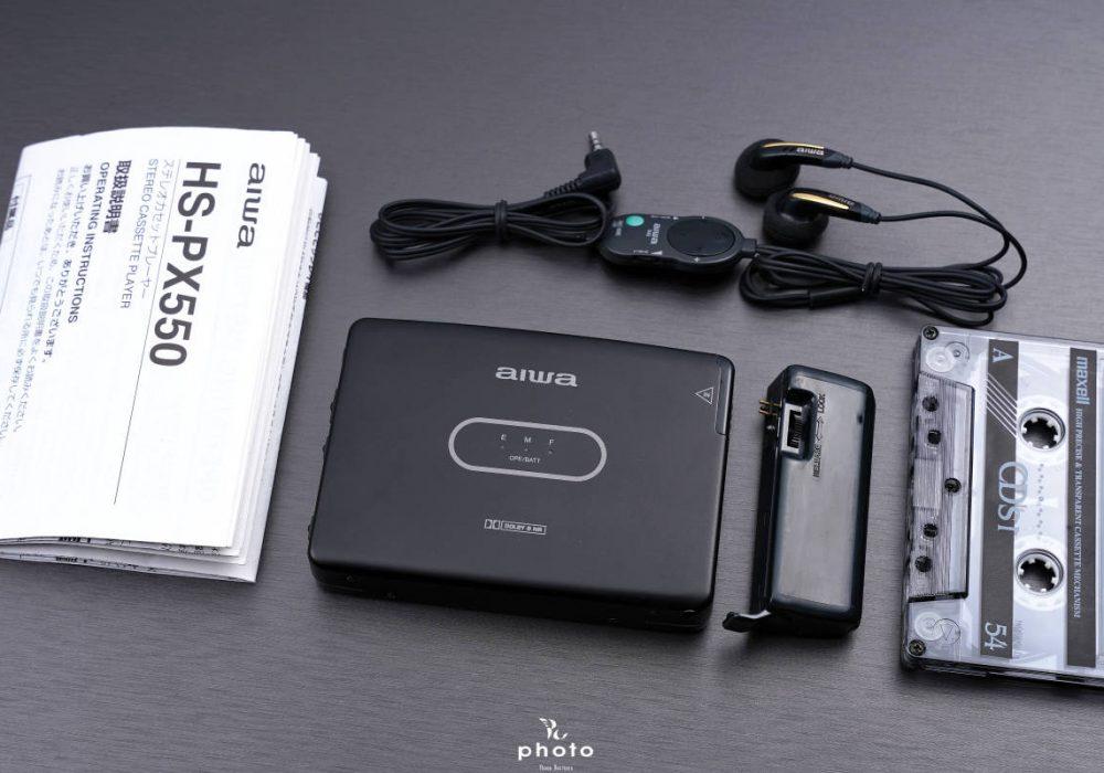 ★新品同様・動作〇★ AIWA アイワ ポータブルカセットプレーヤー HS-PX550 BLACK