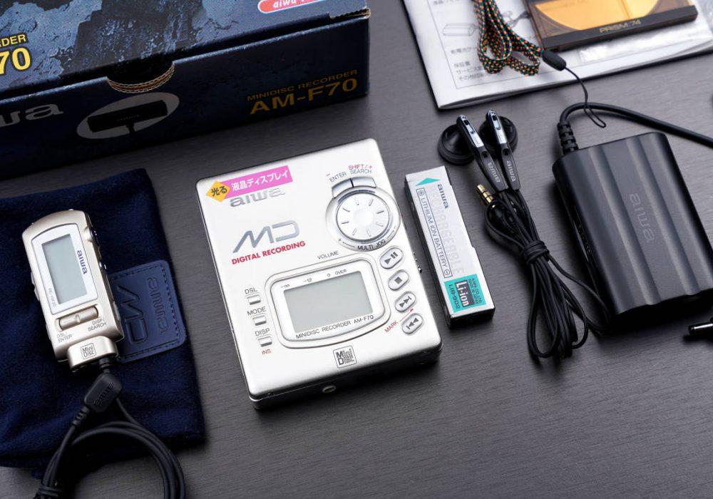 aiwa AM-F70 便携MD播放器 MD随身听