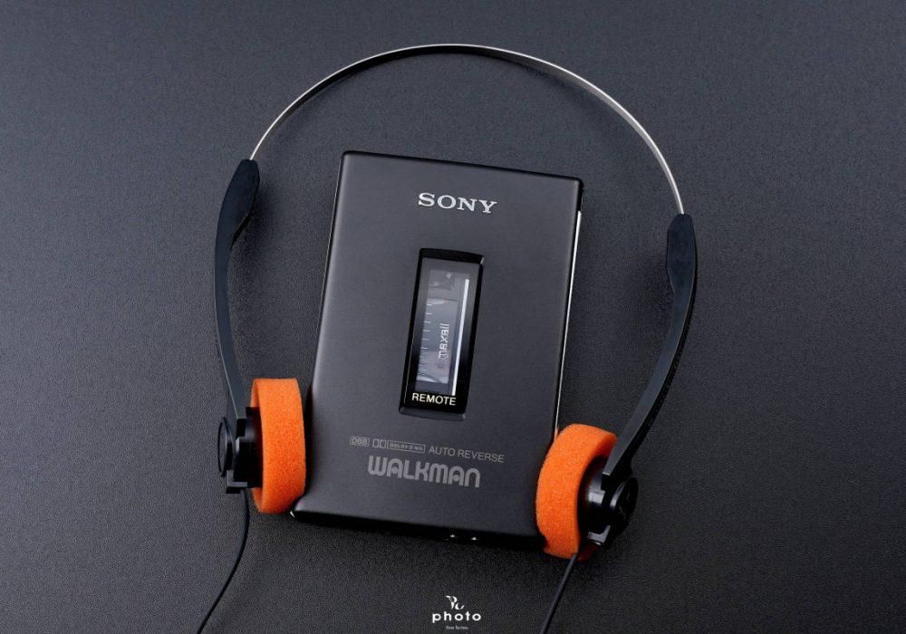 索尼 SONYWALKMAN便携カセット播放器 WM-607 Black ヘットフォン付