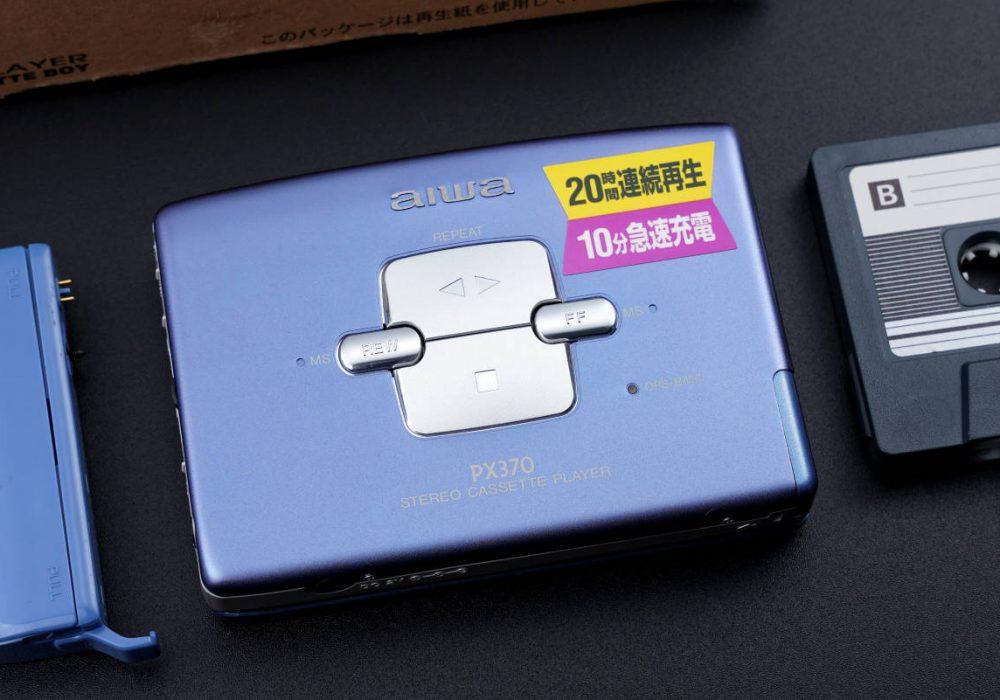 aiwa アイワ便携カセット播放器 HS-PX370 Blue