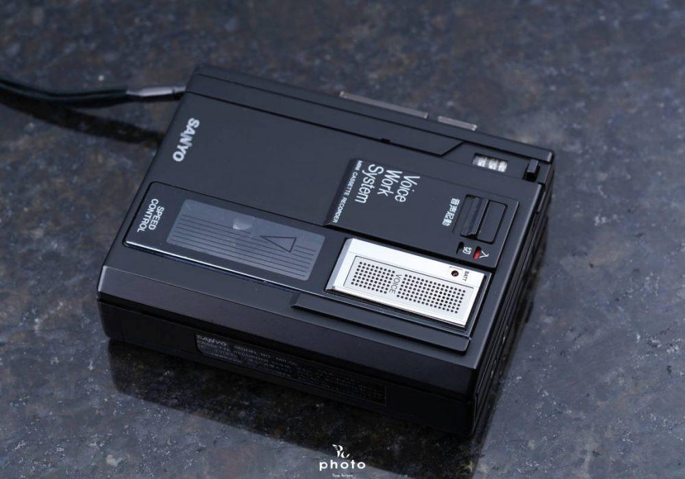 美品 △SANYO サンヨー便携カセットレコーダー MODEL NO. MR-55 Black