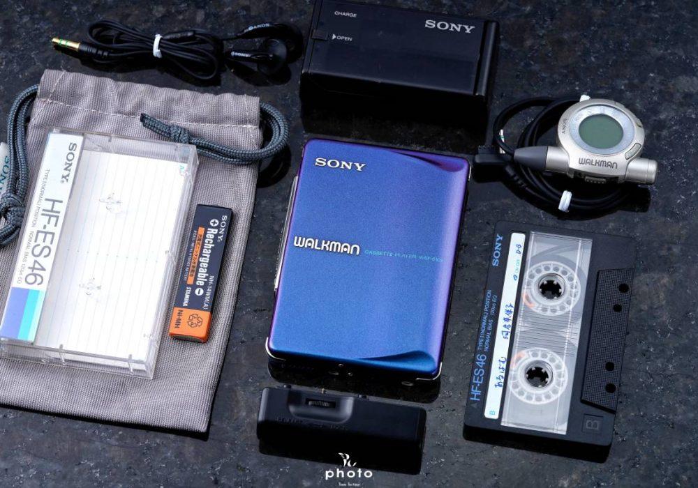 美品索尼 SONYWALKMAN便携カセット播放器 WM-EX9 マルチブルーカラー