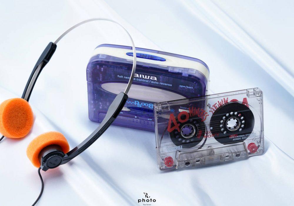 aiwa アイワ便携カセット播放器 HS-PS008 violet 稀少色