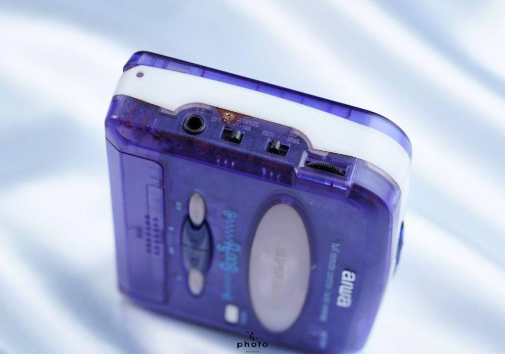 美品aiwa アイワ便携カセット播放器 HS-PS008 violet 稀少色